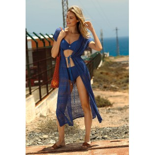 Пляжное платье-накидка Feba Deep Blue