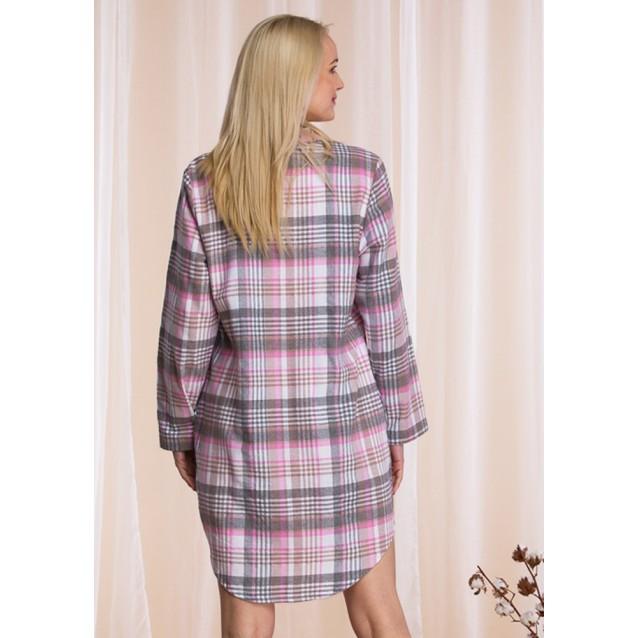 Платье-рубашка женская Key Pink