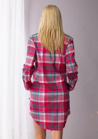Фланелевое платье-рубашка Key Red