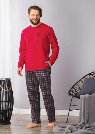 Мужской спальный костюм Key Red
