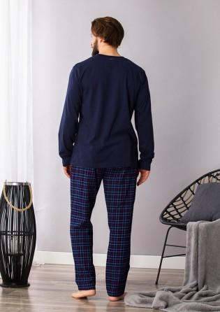 Мужской домашний костюм со штанами Key Navy blue