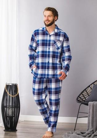 Мужская пижама из фланели Key Blue sky
