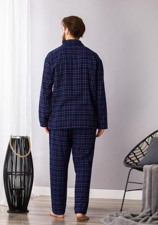 Мужской пижамный костюм Key Navy blue