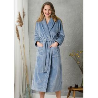 Длинный теплый халат Key