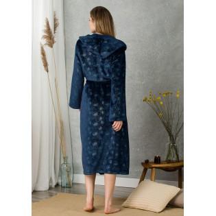 Длинный халат с капюшоном KEY