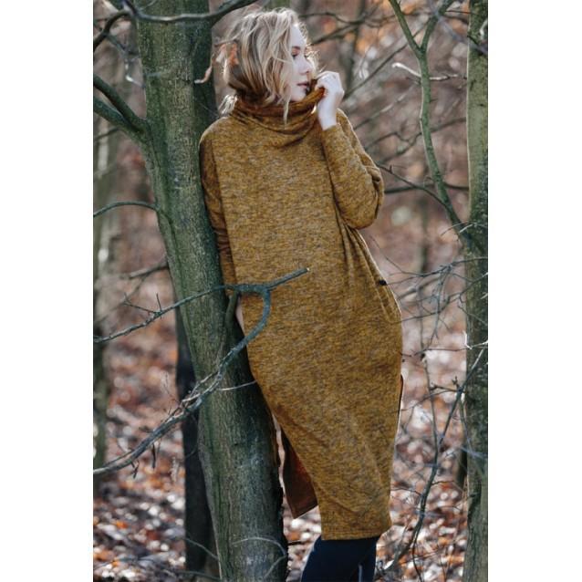 Теплое платье-туника Key