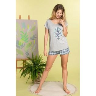Трикотажная пижама с шортами KEY Convenience
