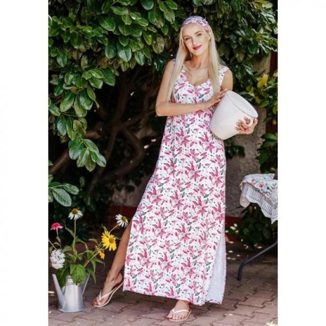 Длинное летнее платье KEY Echinacea