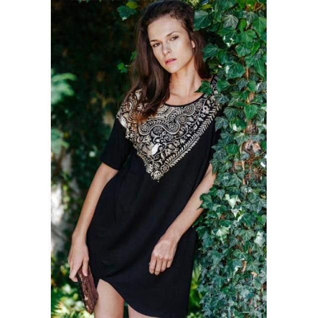Домашнее платье Key Black gold