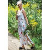 Длинное платье из вискозы Key Poppies
