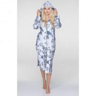 Флисовый женский халат на молнии