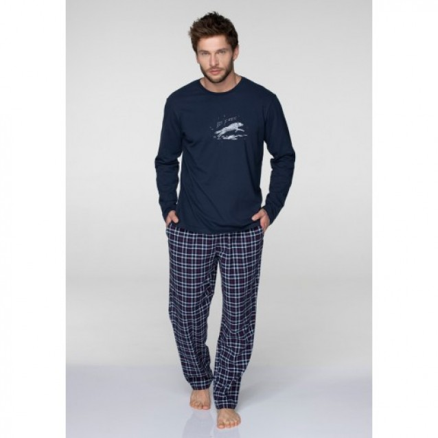 Хлопковая пижама мужская