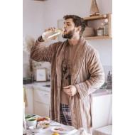 Теплый мужской халат Key