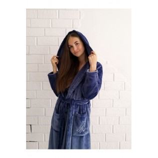 Короткий халат из велсофта Maria