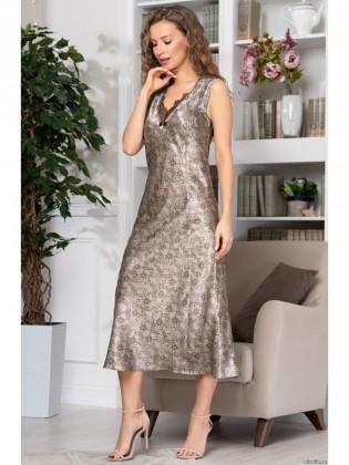 """Домашнее платье-сорочка большого размера """"Ажур"""""""