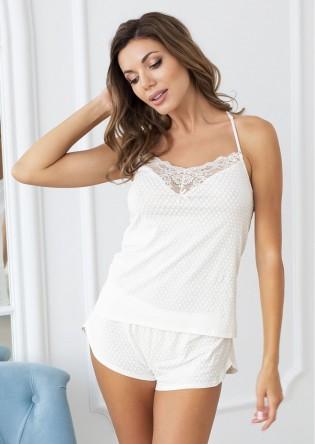 Белая пижама с кружевом Angel