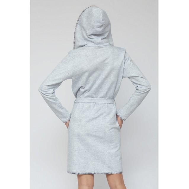 Короткий халат с капюшоном Cloud