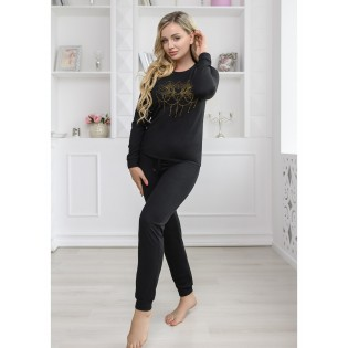 Черная женская пижама Jadore