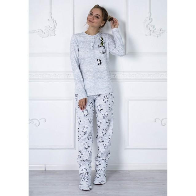 Хлопковая пижама со штанами Panda