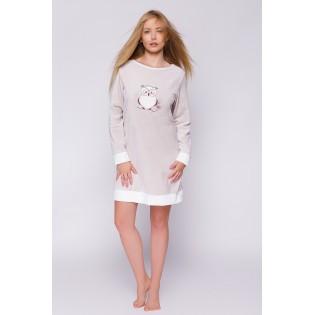 Велюровое платье сорочка Sonia