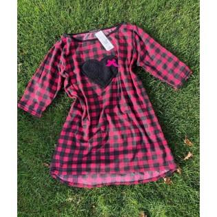 Теплое платье сорочка Dominique