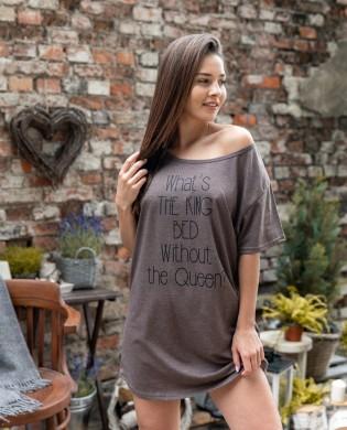 Женская сорочка оверсайз Sensis Oversize brown