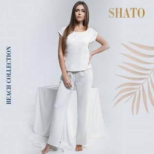 Летний костюм со штанами из жатки Shato