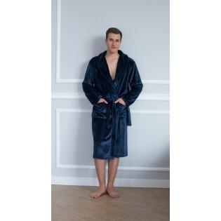 Мужской халат теплый Shato Dark blue