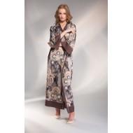 Длинный халат из шелка Shato