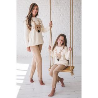 Флисовая женская пижама