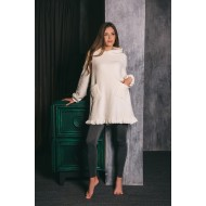 Плюшевое платье с лосинами