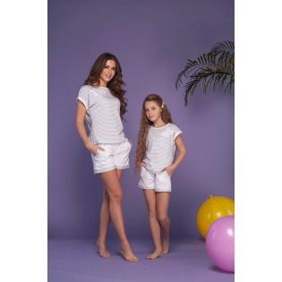 Пижама с шортами из хлопка Wiktoria Lines