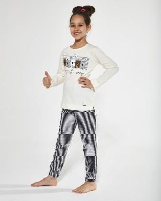 Хлопковая пижама с длинным рукавом для девочки подростка Cornette