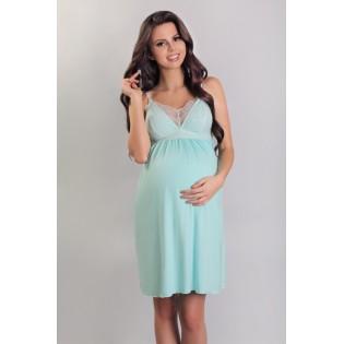 Сорочка с кружевом для кормящих и беременных Lupo