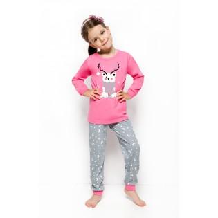 """Пижама для девочек """"Розовый Новогодний Мишка """""""