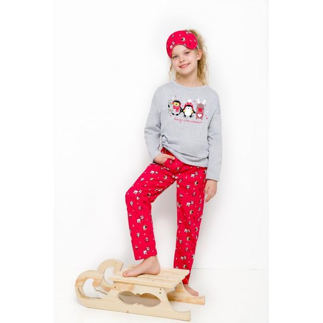"""Пижама для девочек """"Рождественский пингвин"""""""